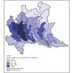 Densità demografica in Lombardia